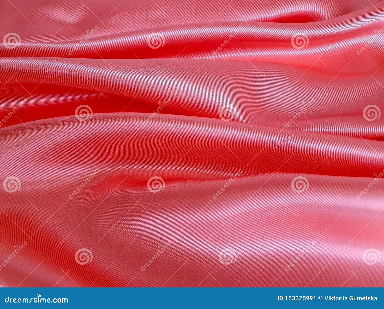 Картина, текстура, предпосылка, обои Мягкий свет - ткань сатинировки цвета пинка и персика, с лоснистой и сияющей поверхностью, р