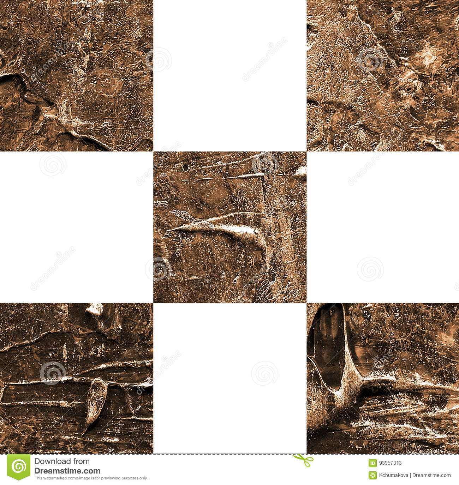 Картина текстурированная Grunge абстрактная checkered безшовная