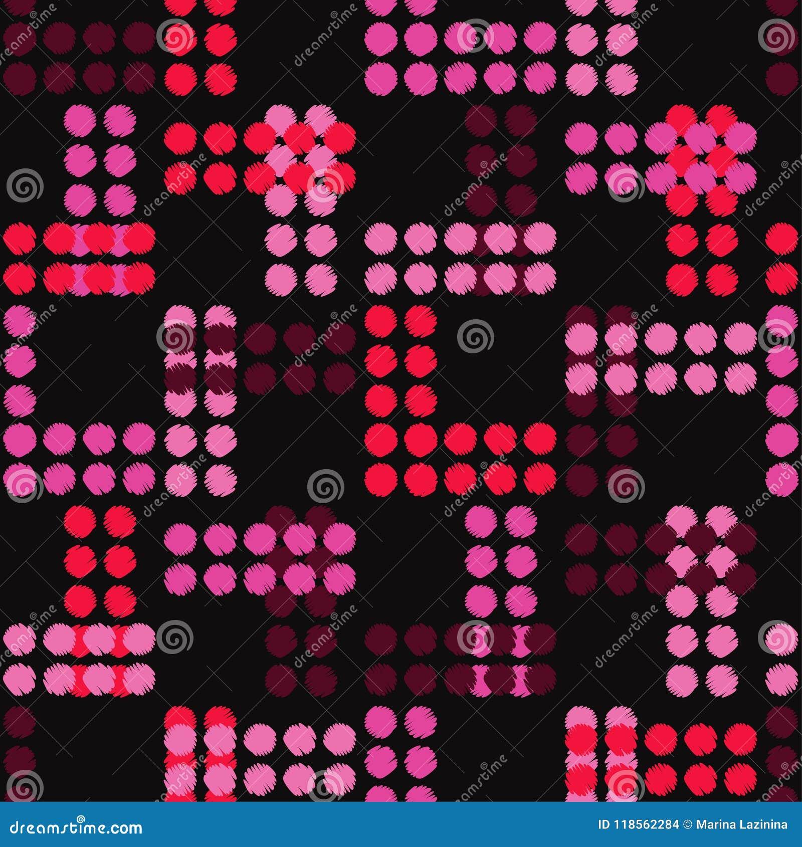 Картина точки польки безшовная Насиживать руки brunelleschi halftone предпосылка геометрическая Текстура Scribble