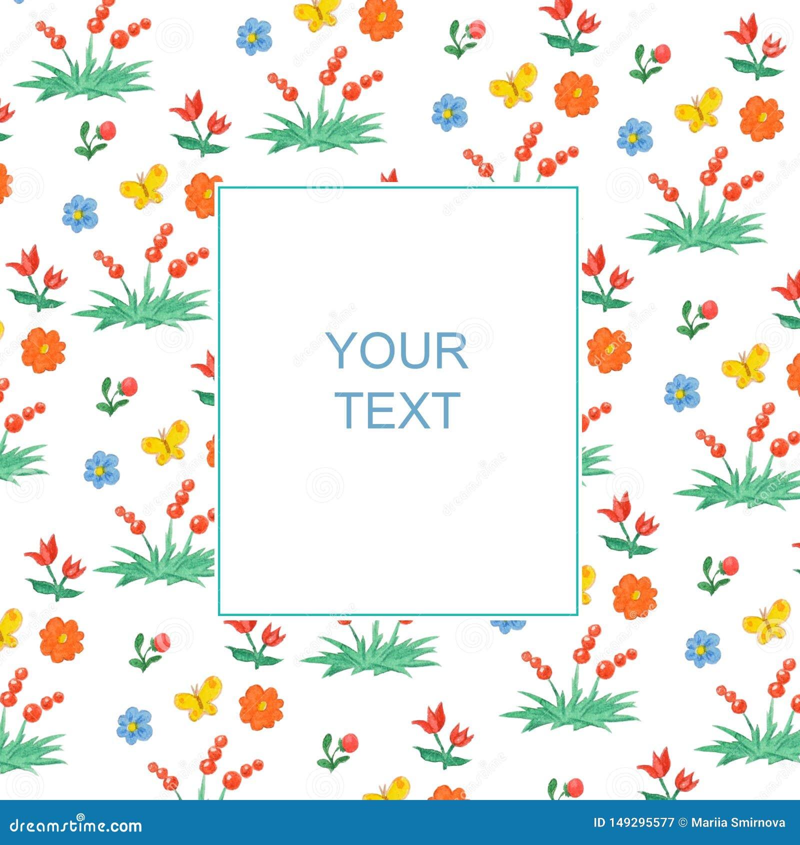 Картина флористических и ягоды со знаменем для текста
