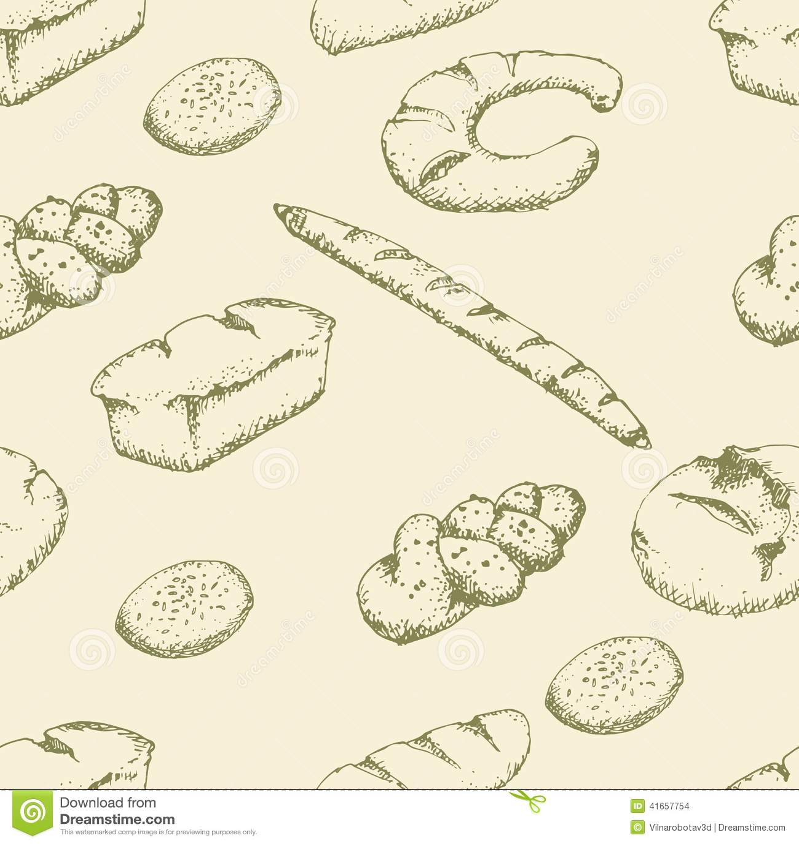Картина хлебопекарни безшовная