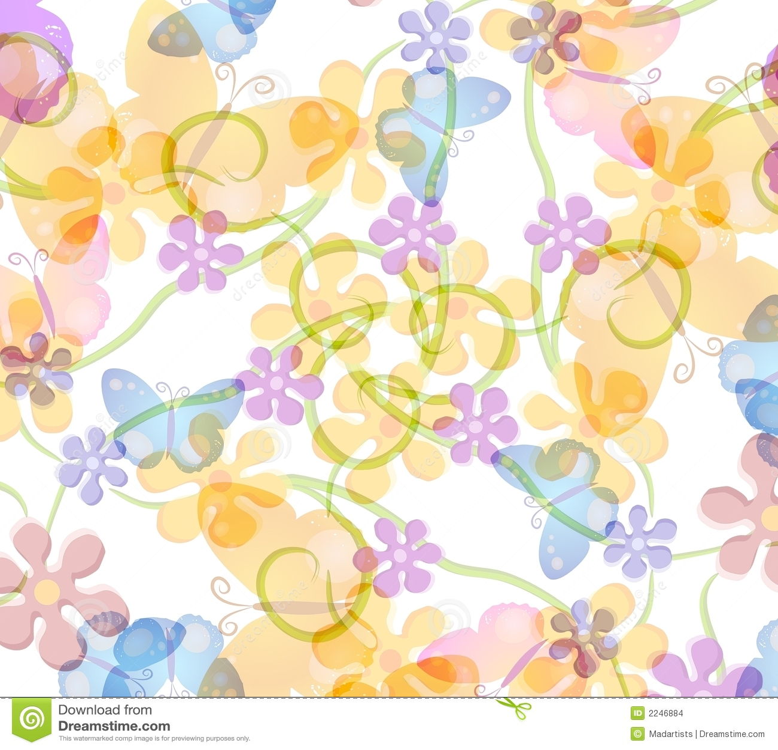 картина цветка бабочки