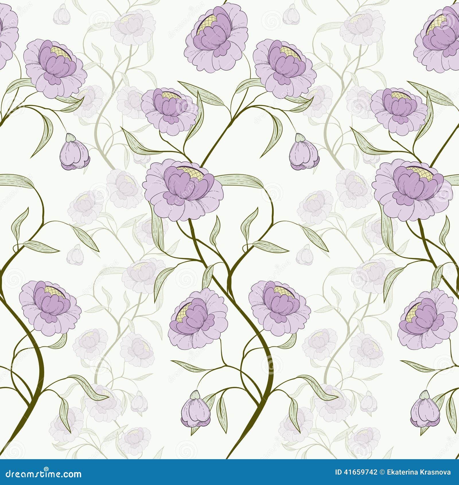 Картина цветка безшовная