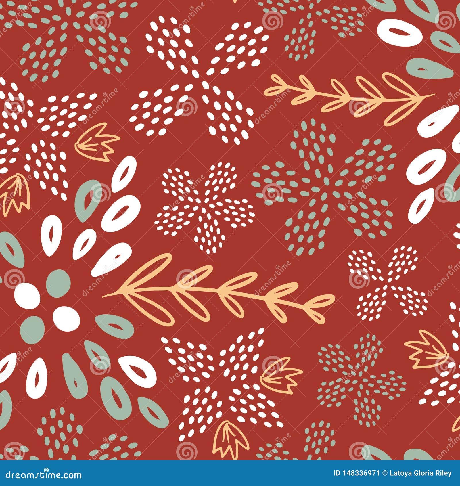 Картина цветка лета Брауна безшовная