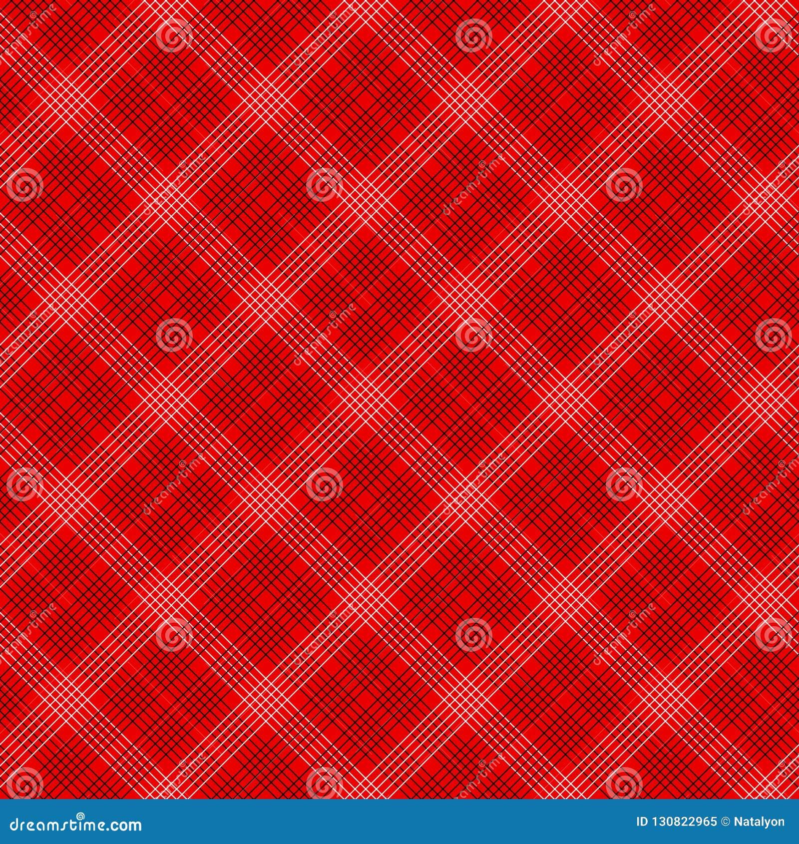 Картина черной и красной простой ткани тартана традиционной безшовная, вектор