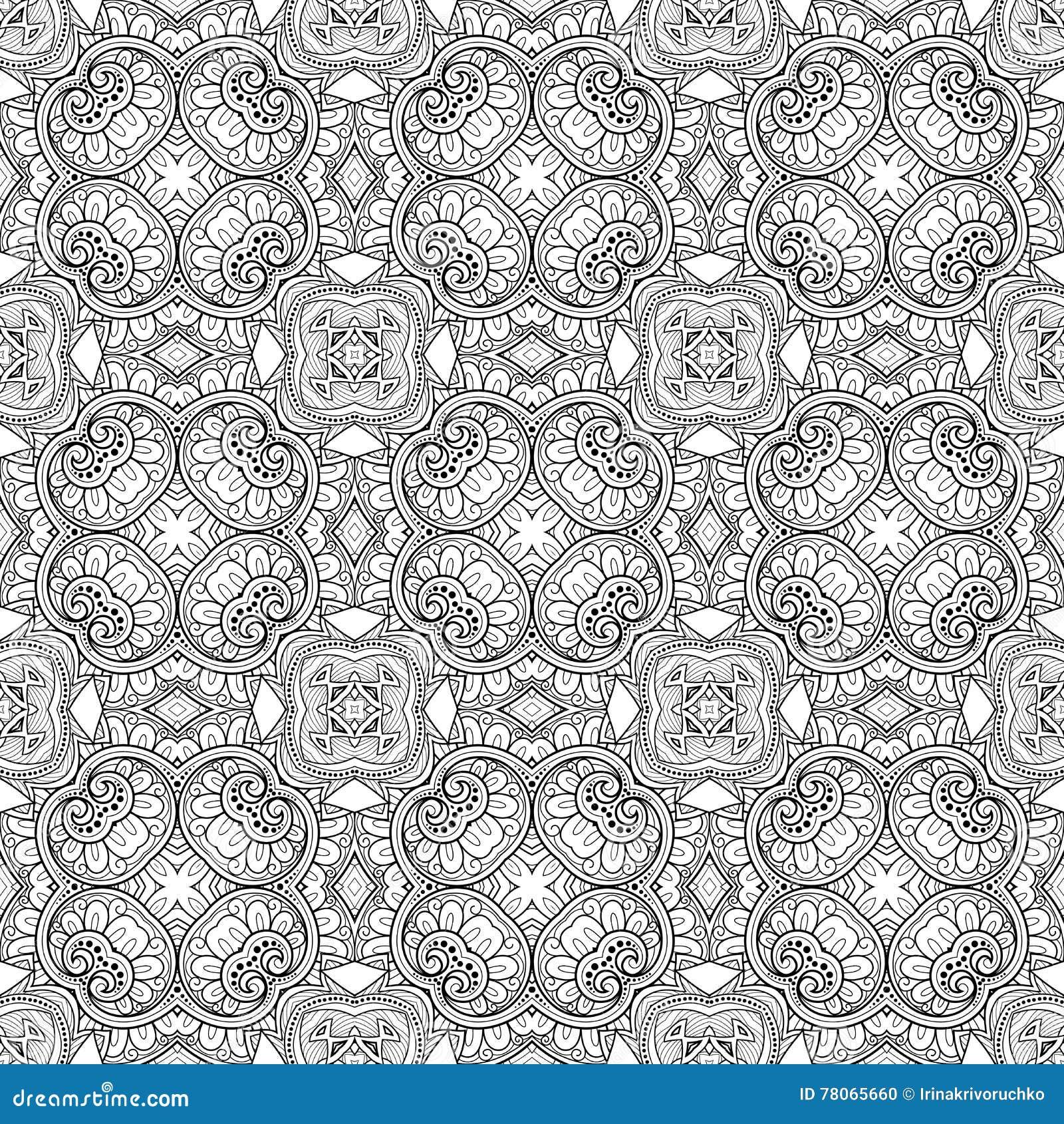 Картина шнурка вектора безшовная винтажная черно-белая