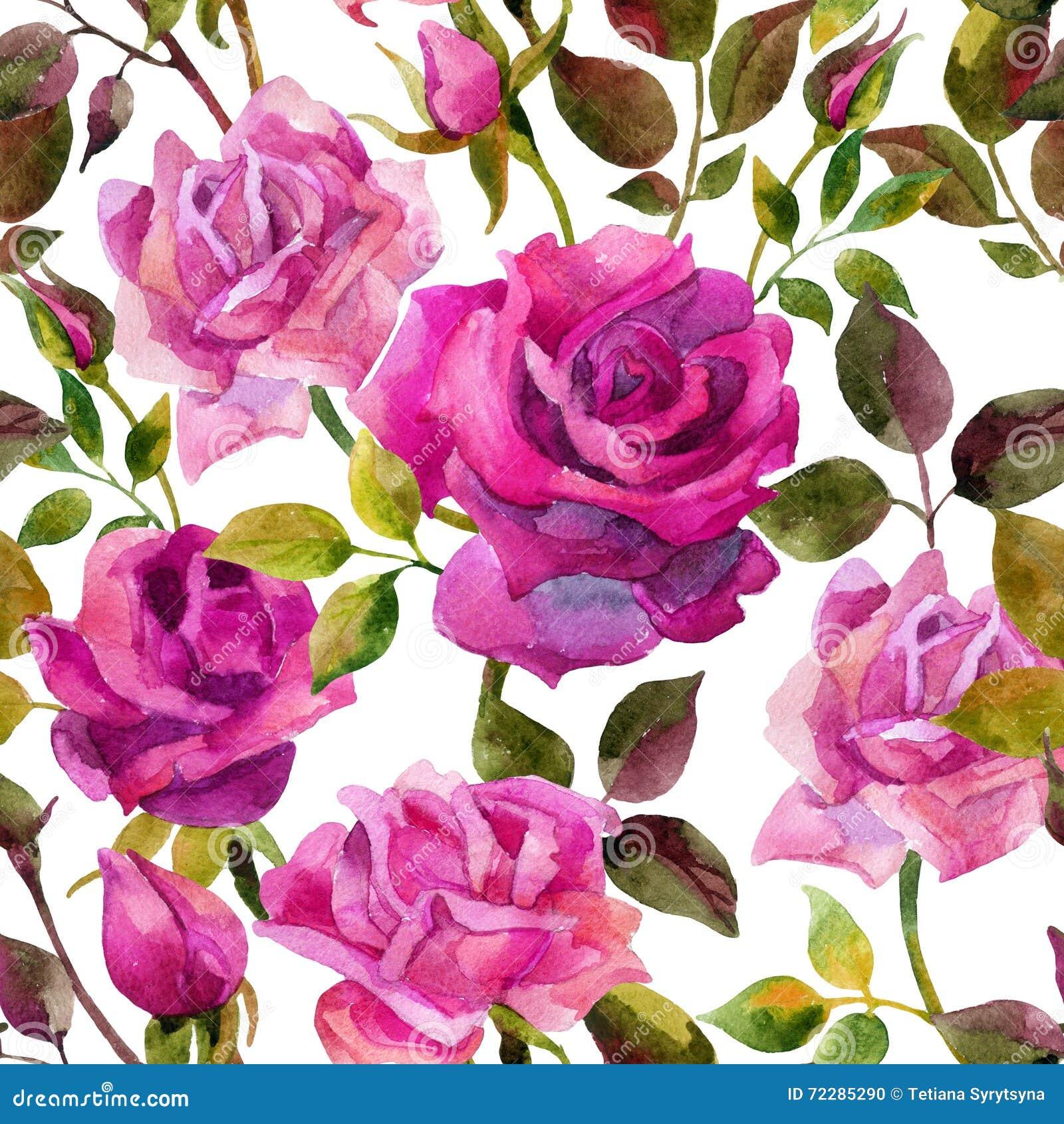 Download Картина ярких роз безшовная Иллюстрация штока - иллюстрации насчитывающей рука, цветасто: 72285290