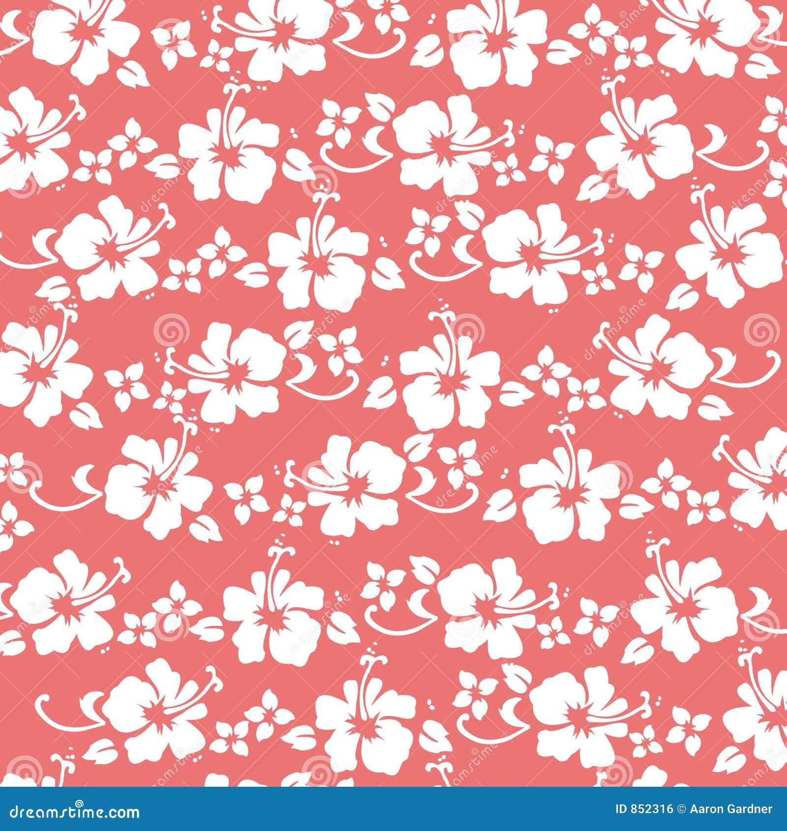 картина hibiscus коралла