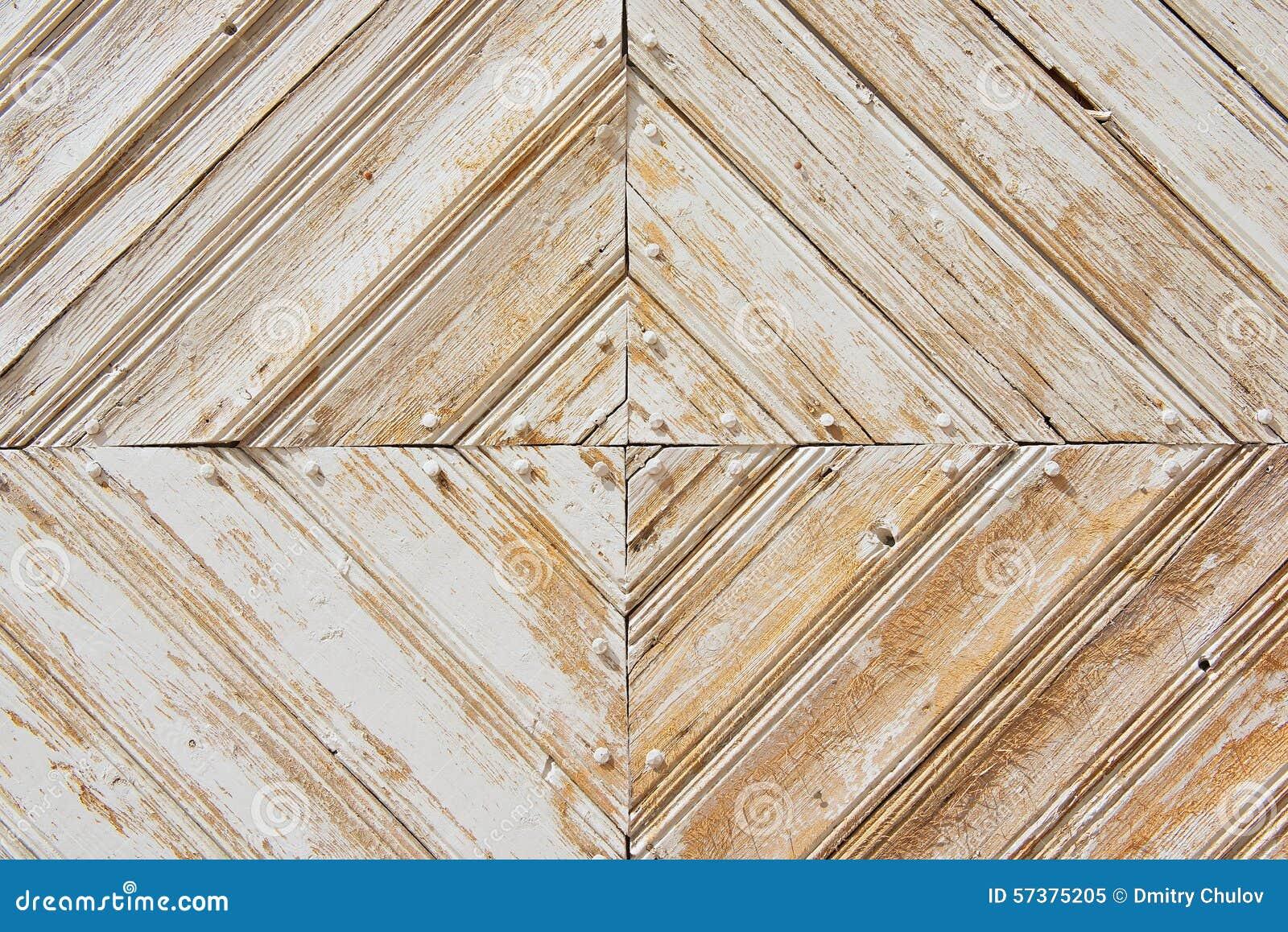 Картина Rhomb старого выдержанного бело-покрашенного деревянного строба