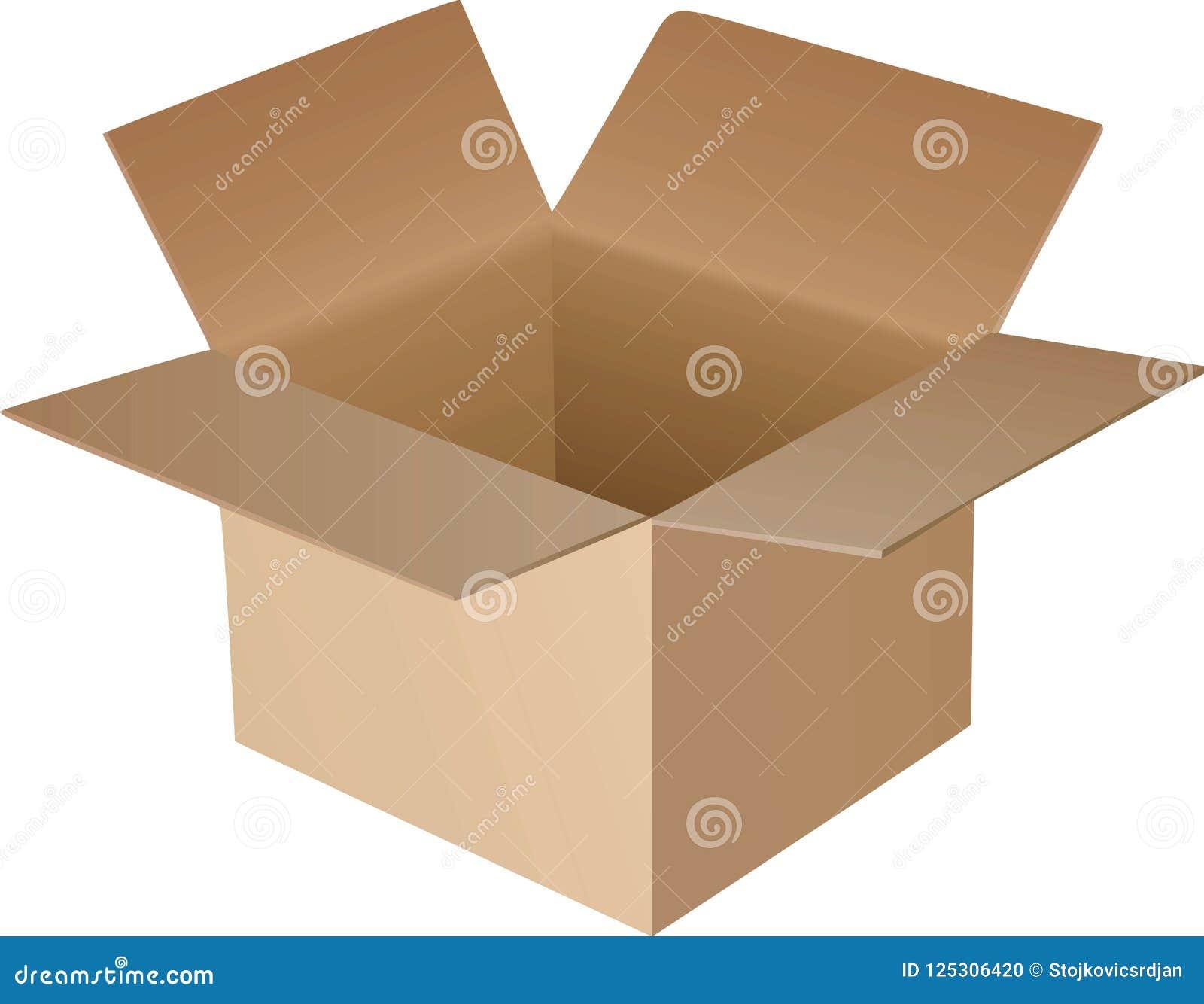картон коробки открытый