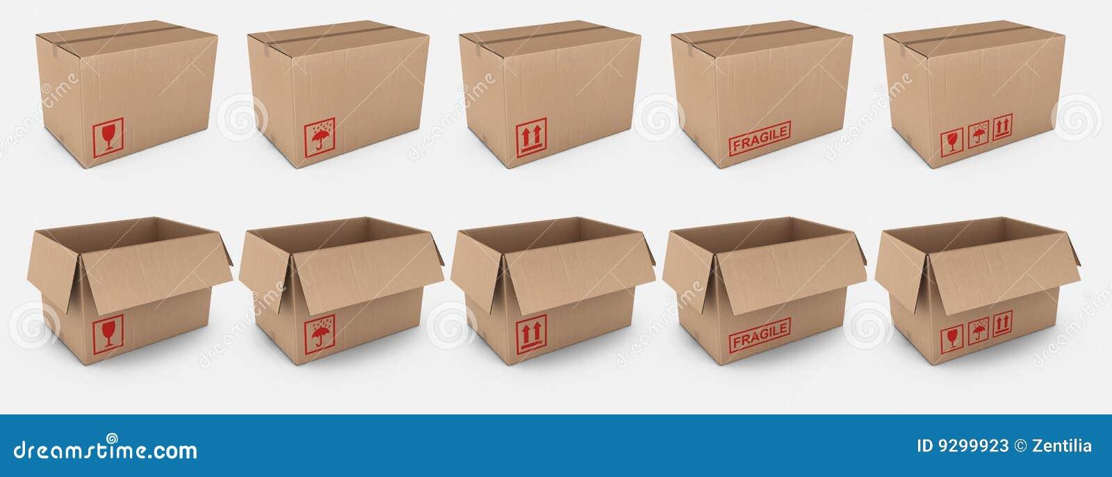 картон коробок обозначает предупреждение