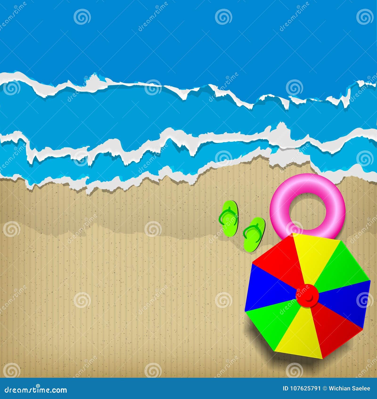 Картон пляжа