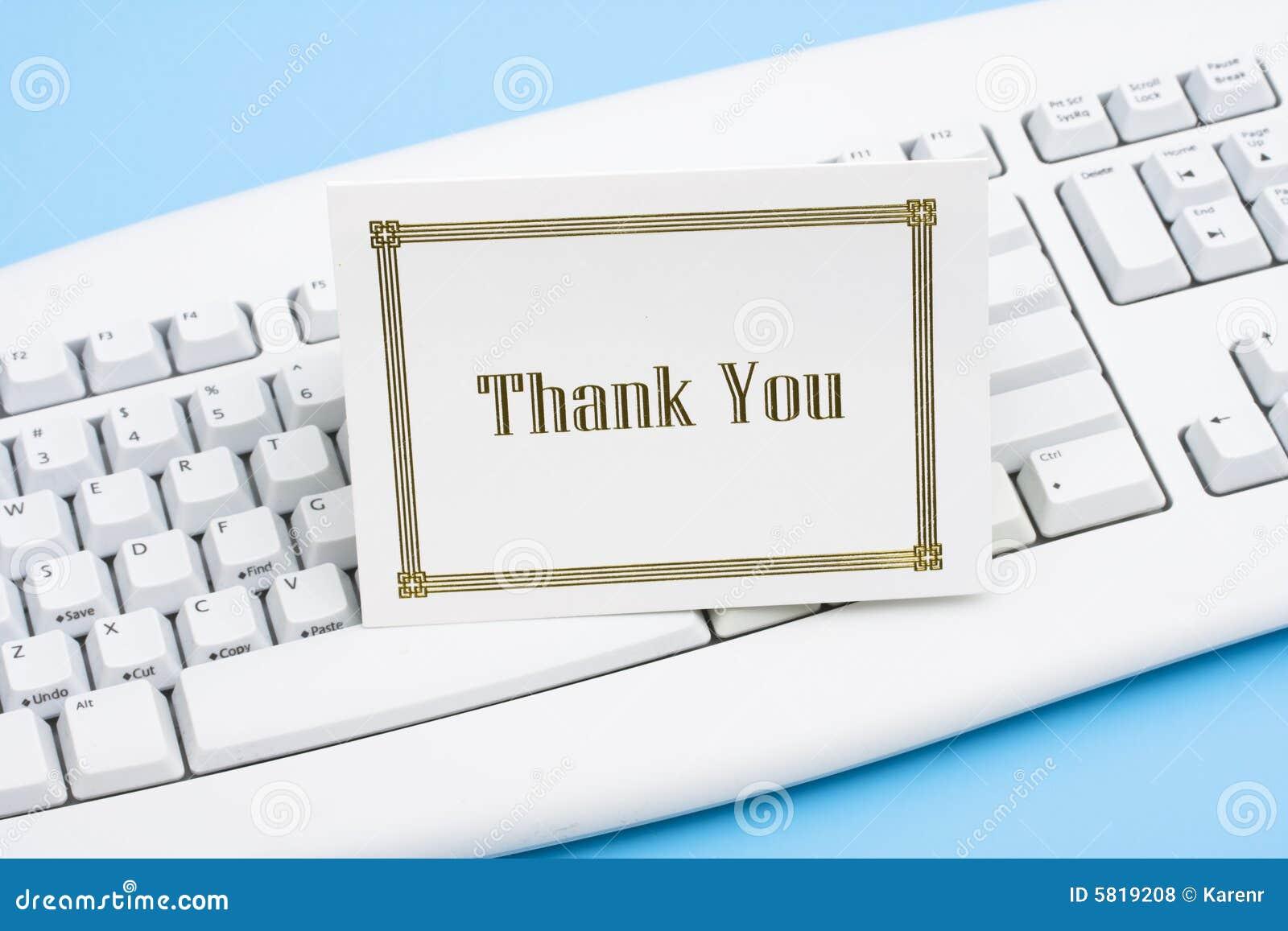 карточка благодарит вас