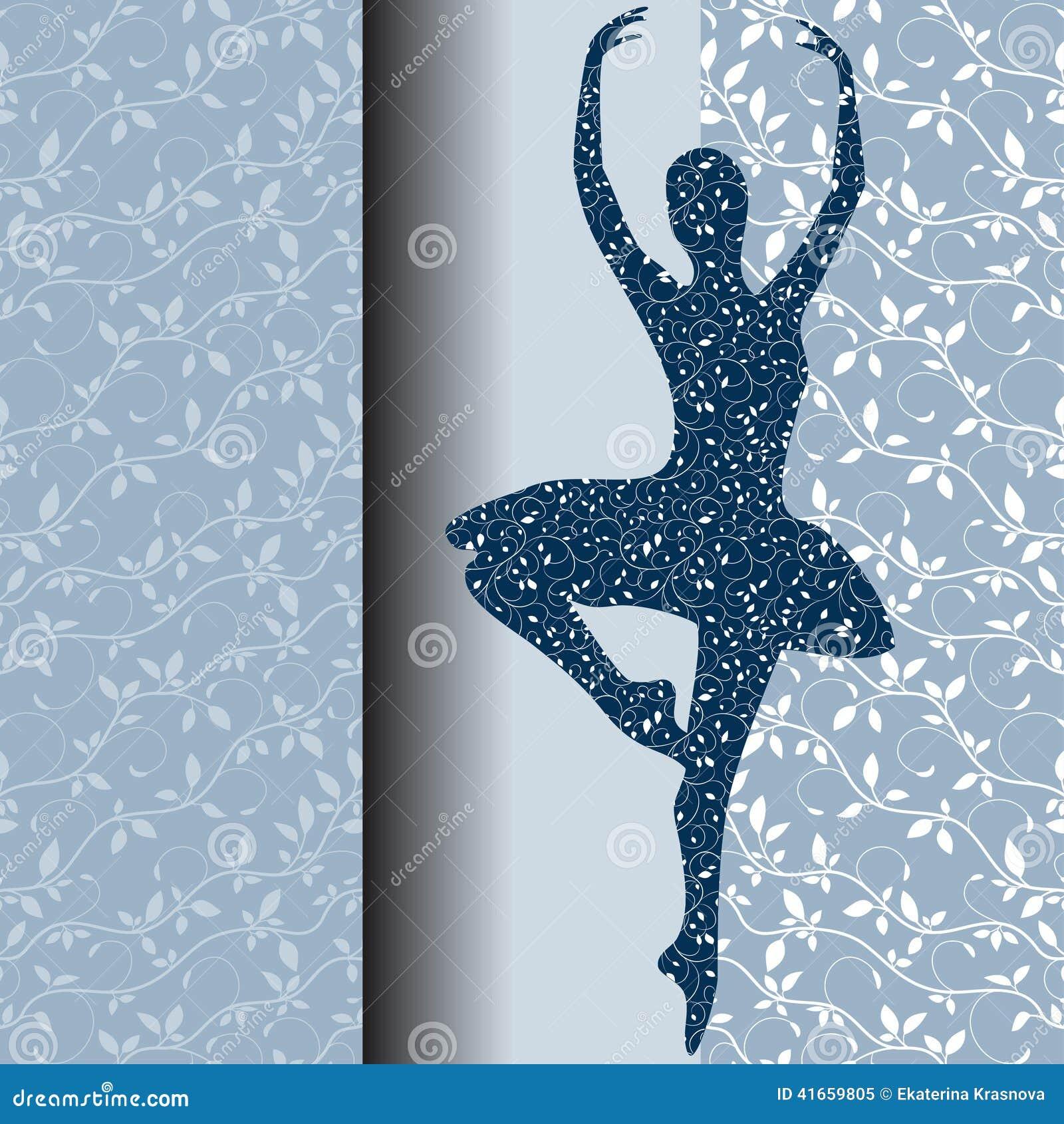 Карточка дизайна балета