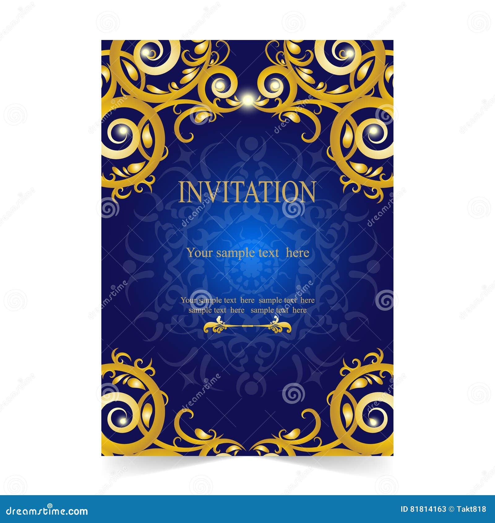 Карточка приглашения, карточка свадьбы с голубой предпосылкой