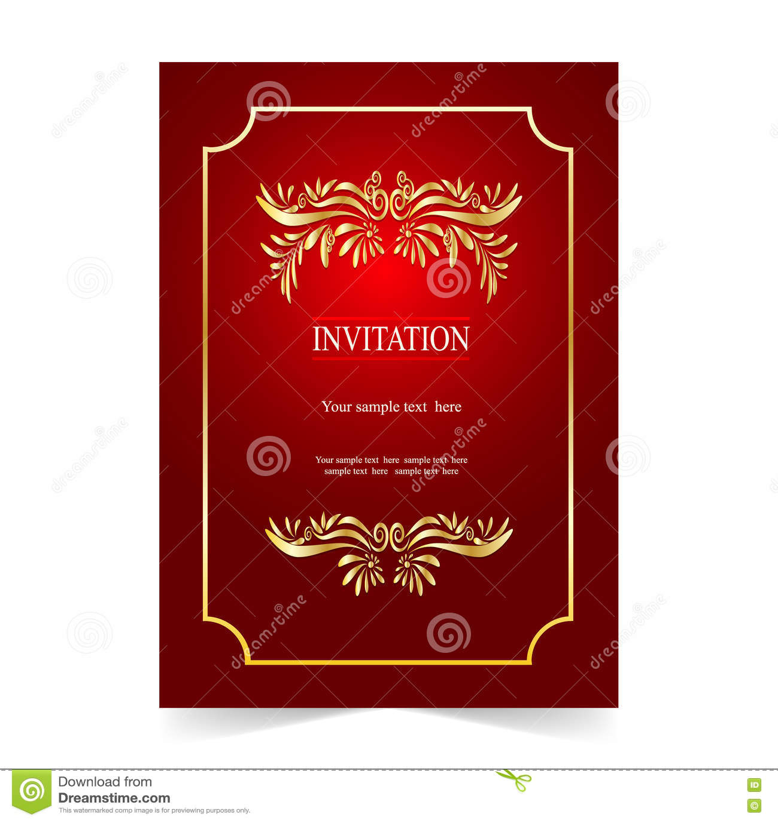 Карточка приглашения, карточка свадьбы с орнаментальной предпосылкой