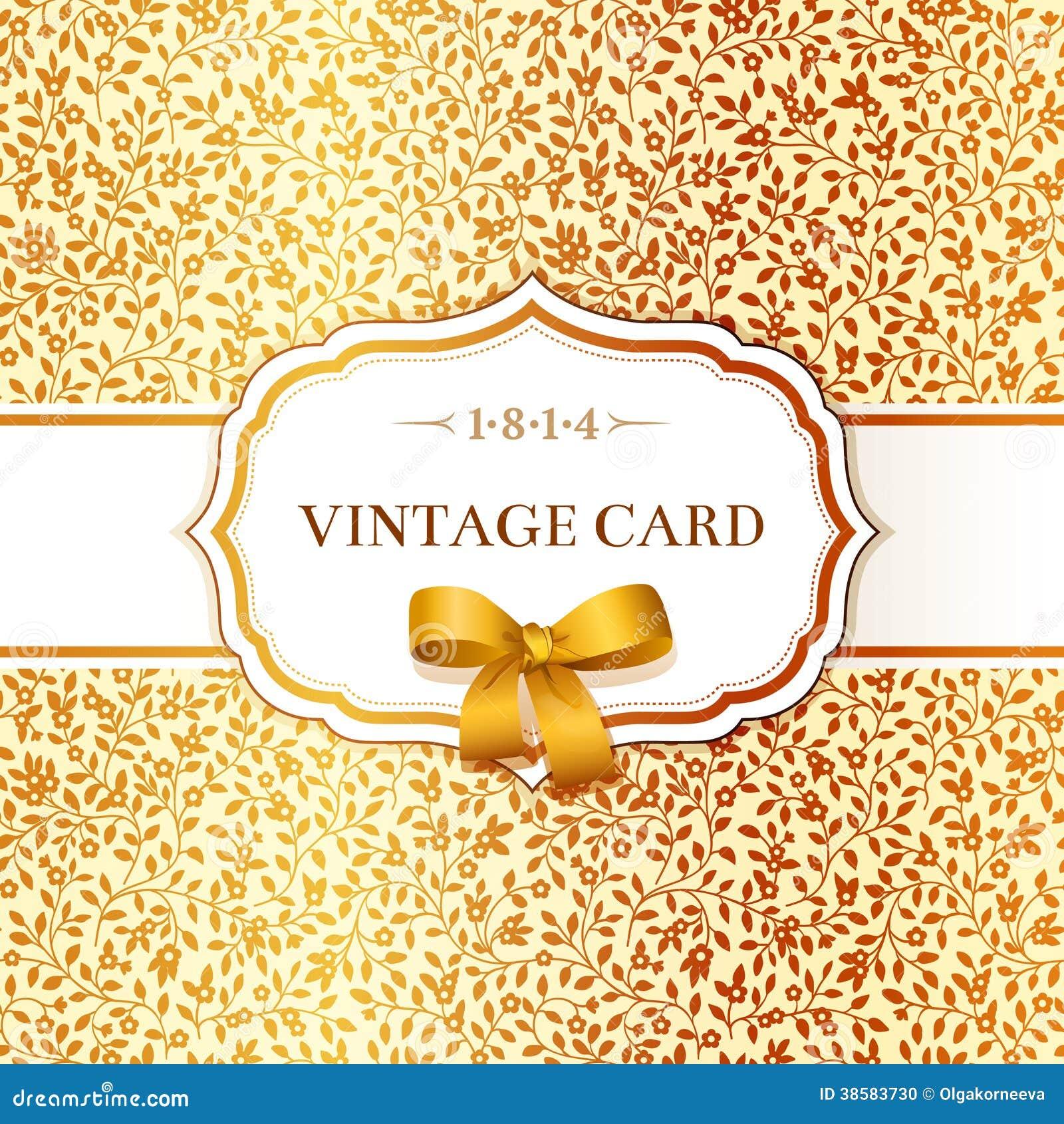 Карточка с предпосылкой малых золотых цветков