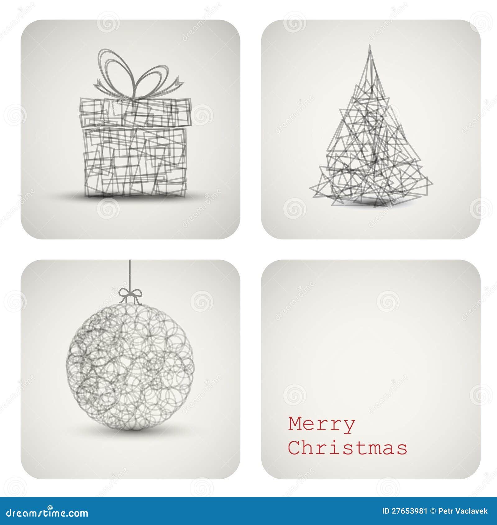 Карточка украшения рождества вектора