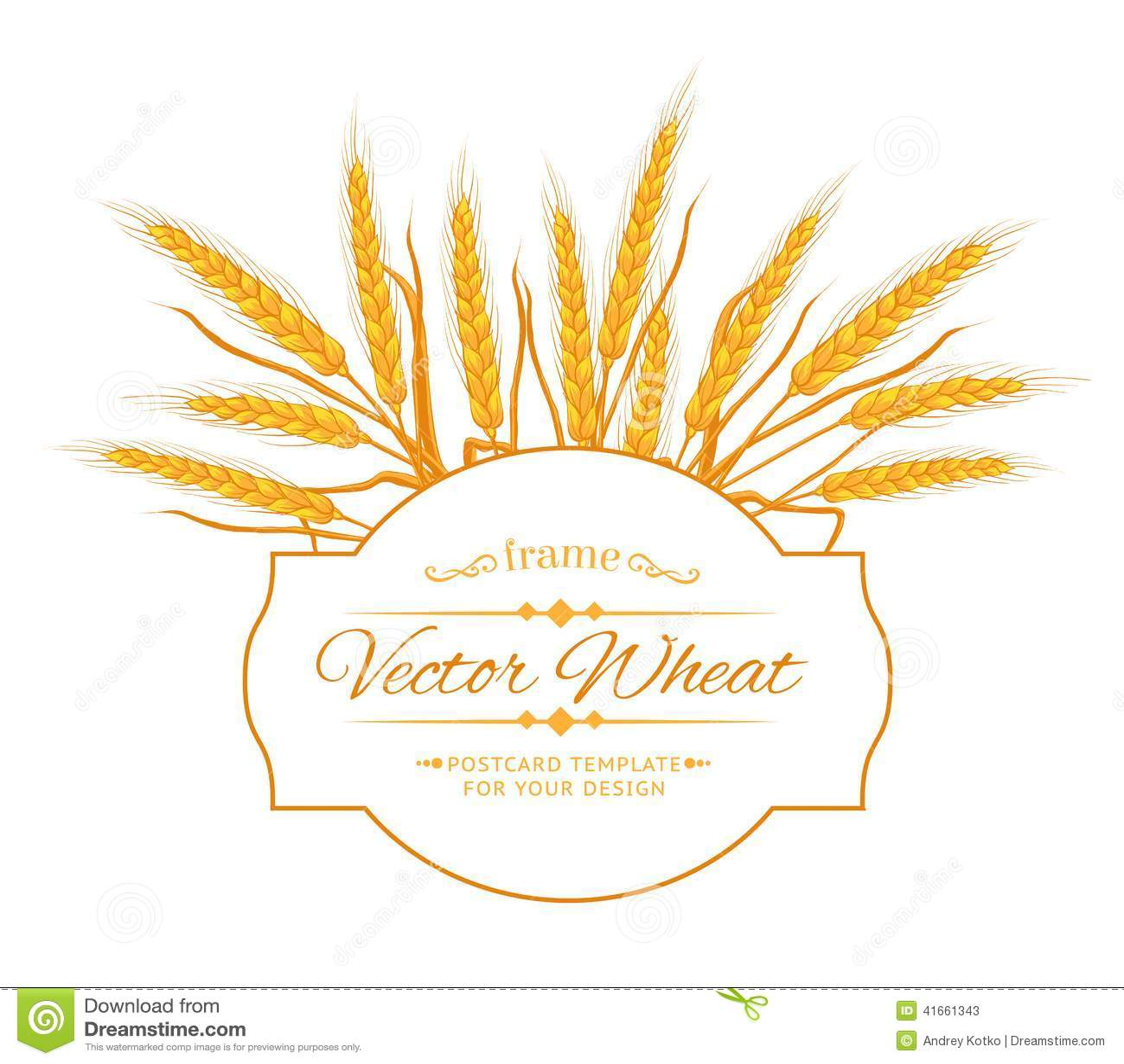 Карточка уха пшеницы