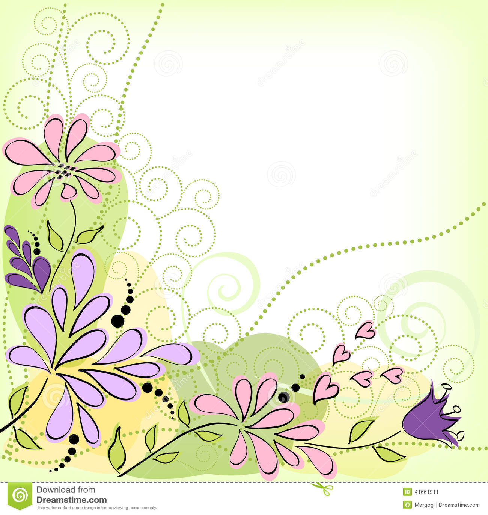 карточка цветет приветствие