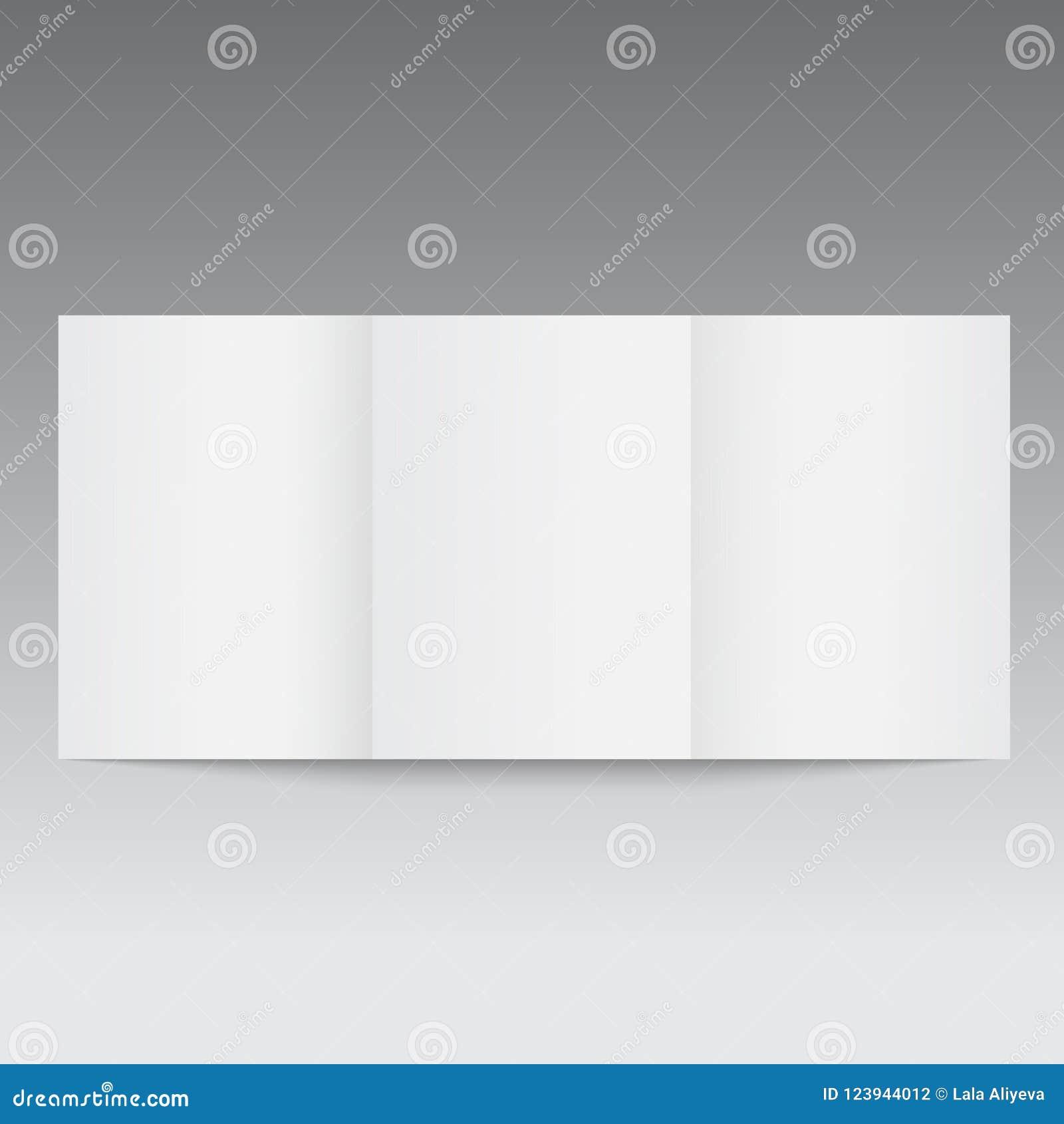 Кассета или брошюра раскрытые модель-макетом вектор