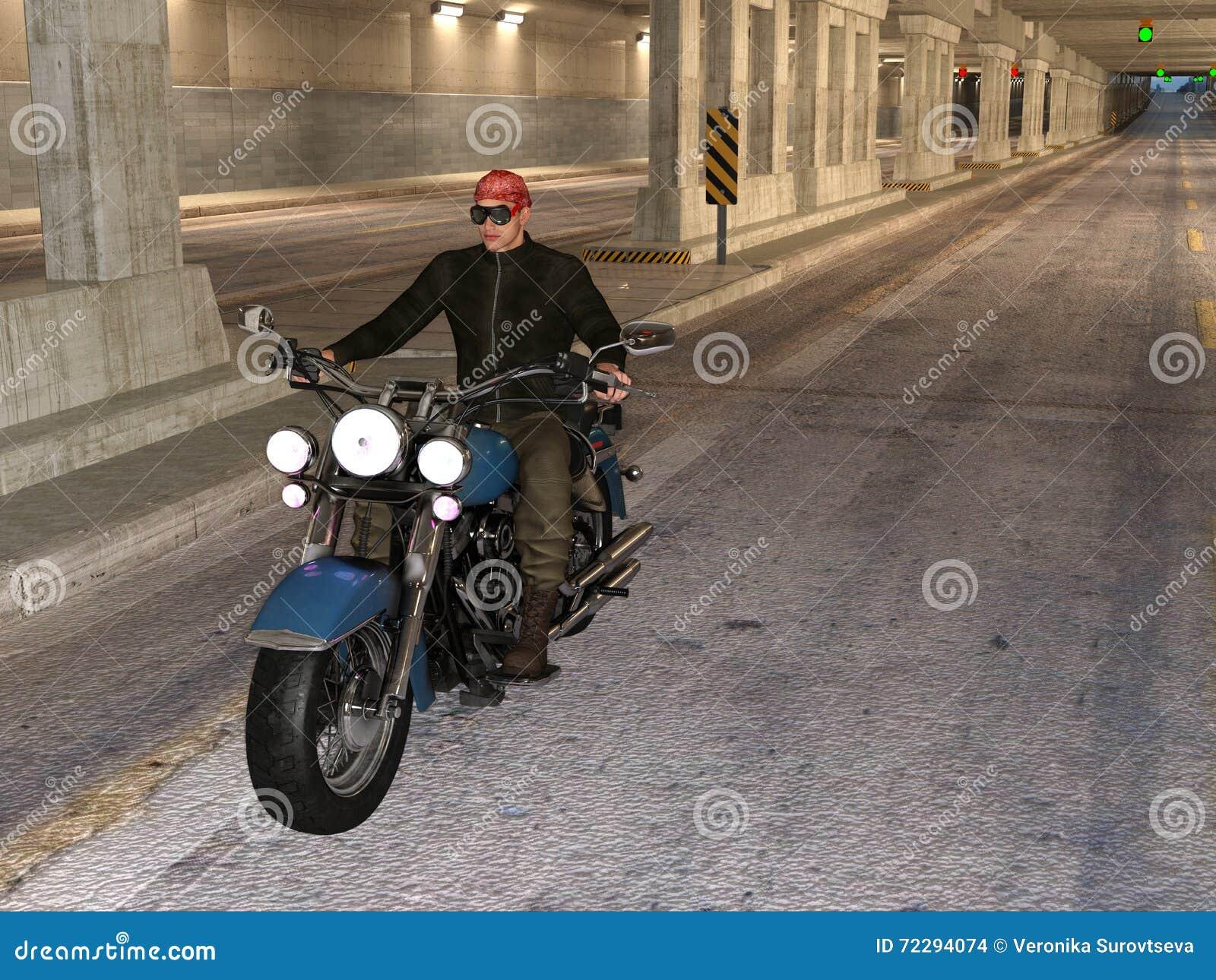 Download Катание велосипедиста в тоннеле Иллюстрация штока - иллюстрации насчитывающей люди, персона: 72294074