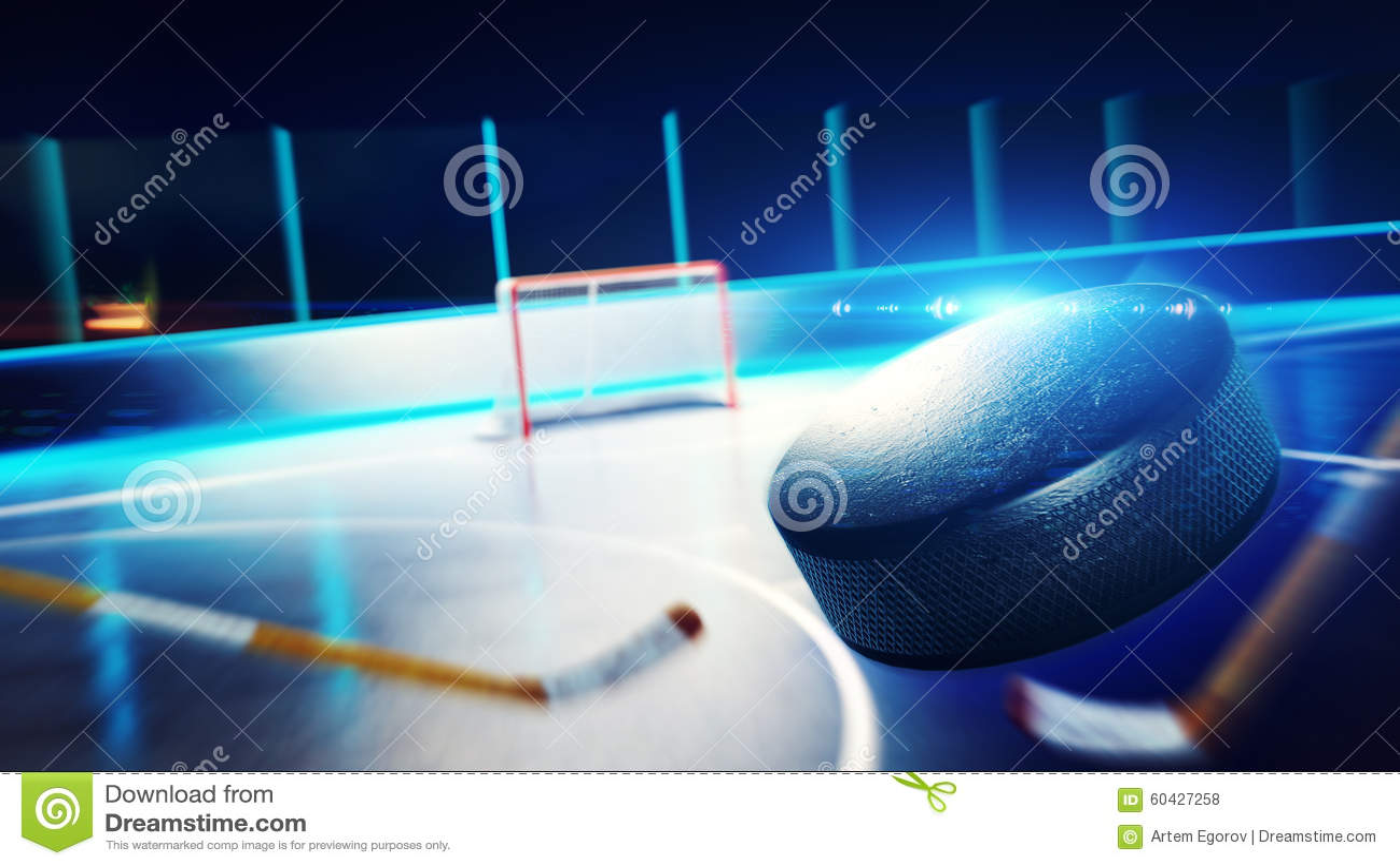 Каток и цель хоккея
