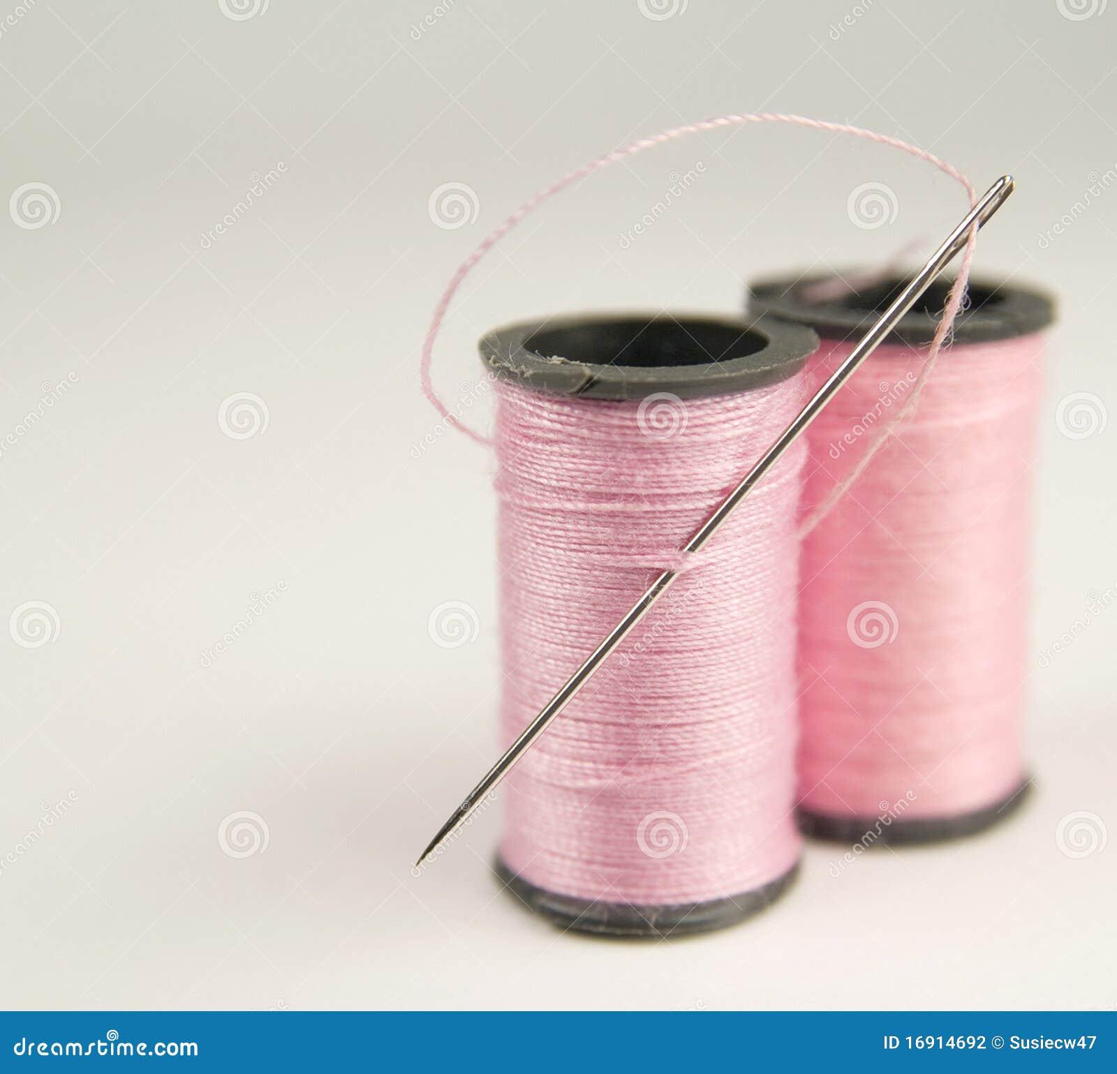 катышкы иглы розовые продевают нитку 2
