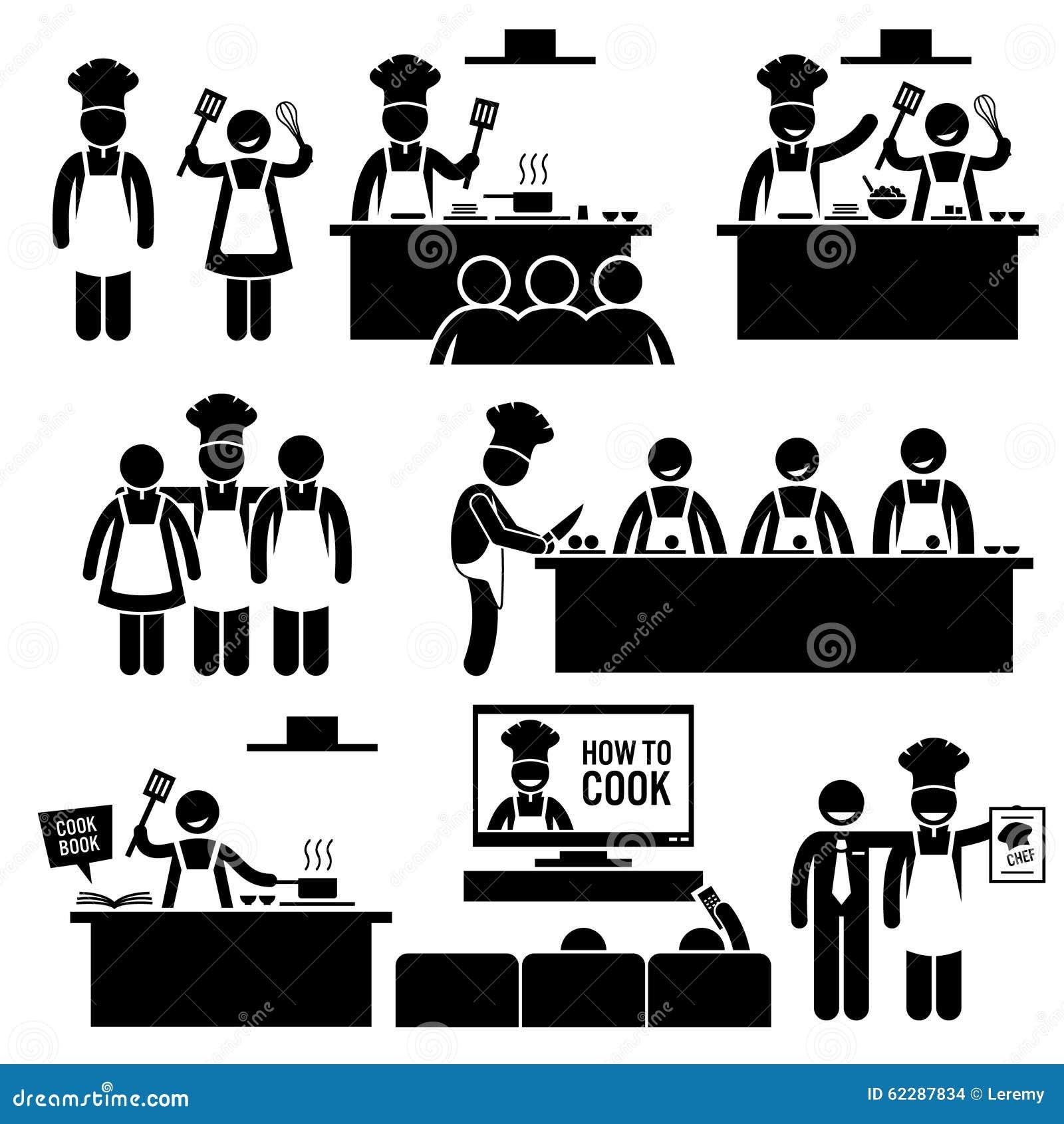 Кашевар Clipart шеф-повара урока кулинарии