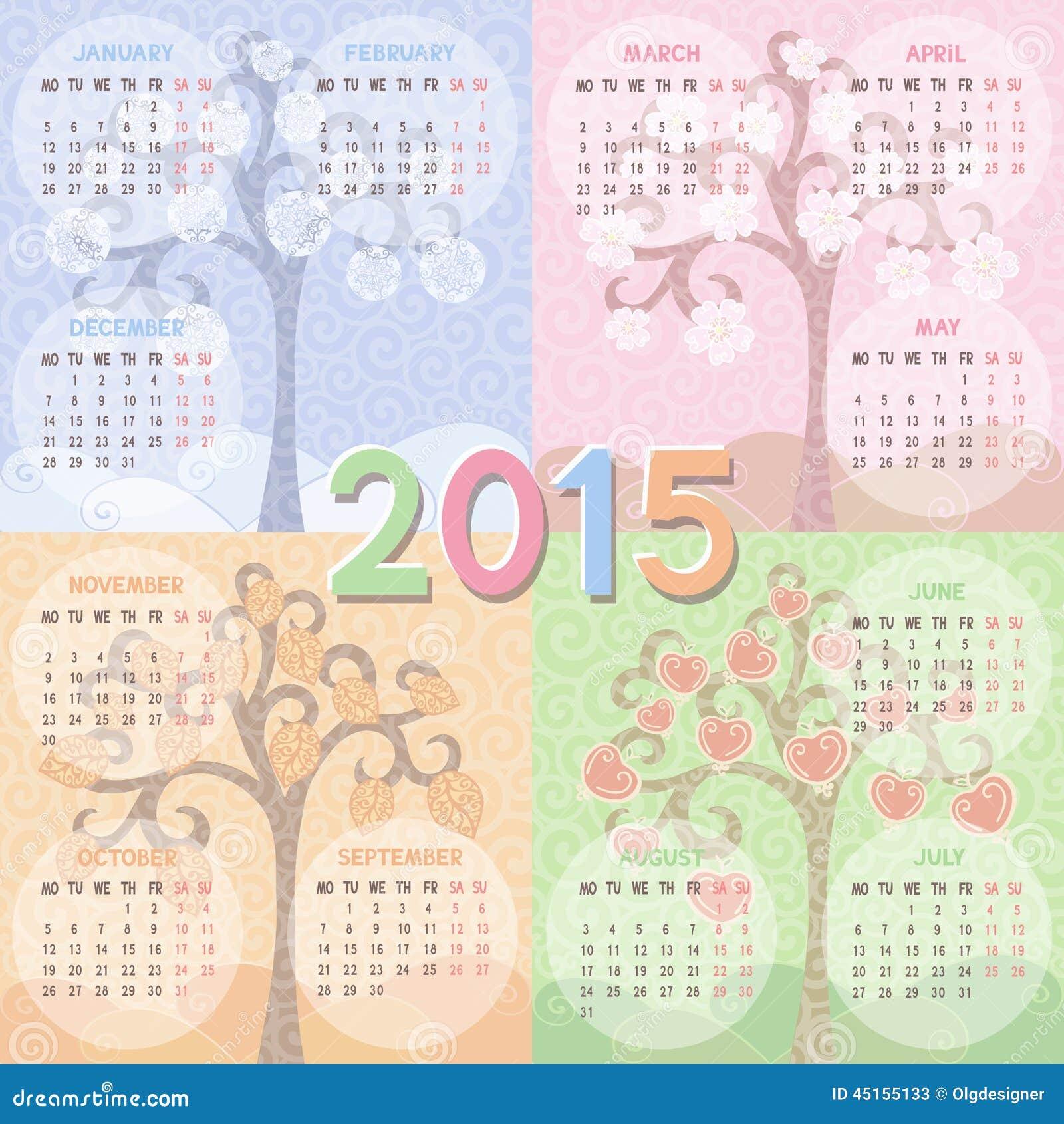 Календарь 2016-2017 дизайн