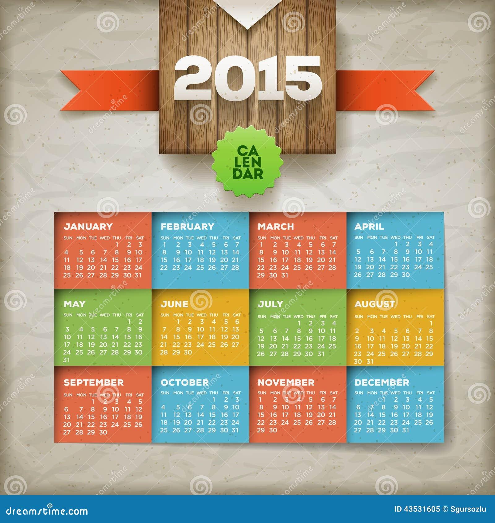Календари на 2015 год - Векторный клипарт 2015 Calendars #1 - Stock Vectors 5 EPS + JPG Preview 37 Mb rar.