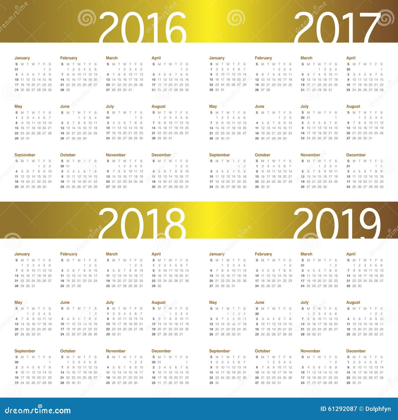 Календарь с рамкой для 2017-2018
