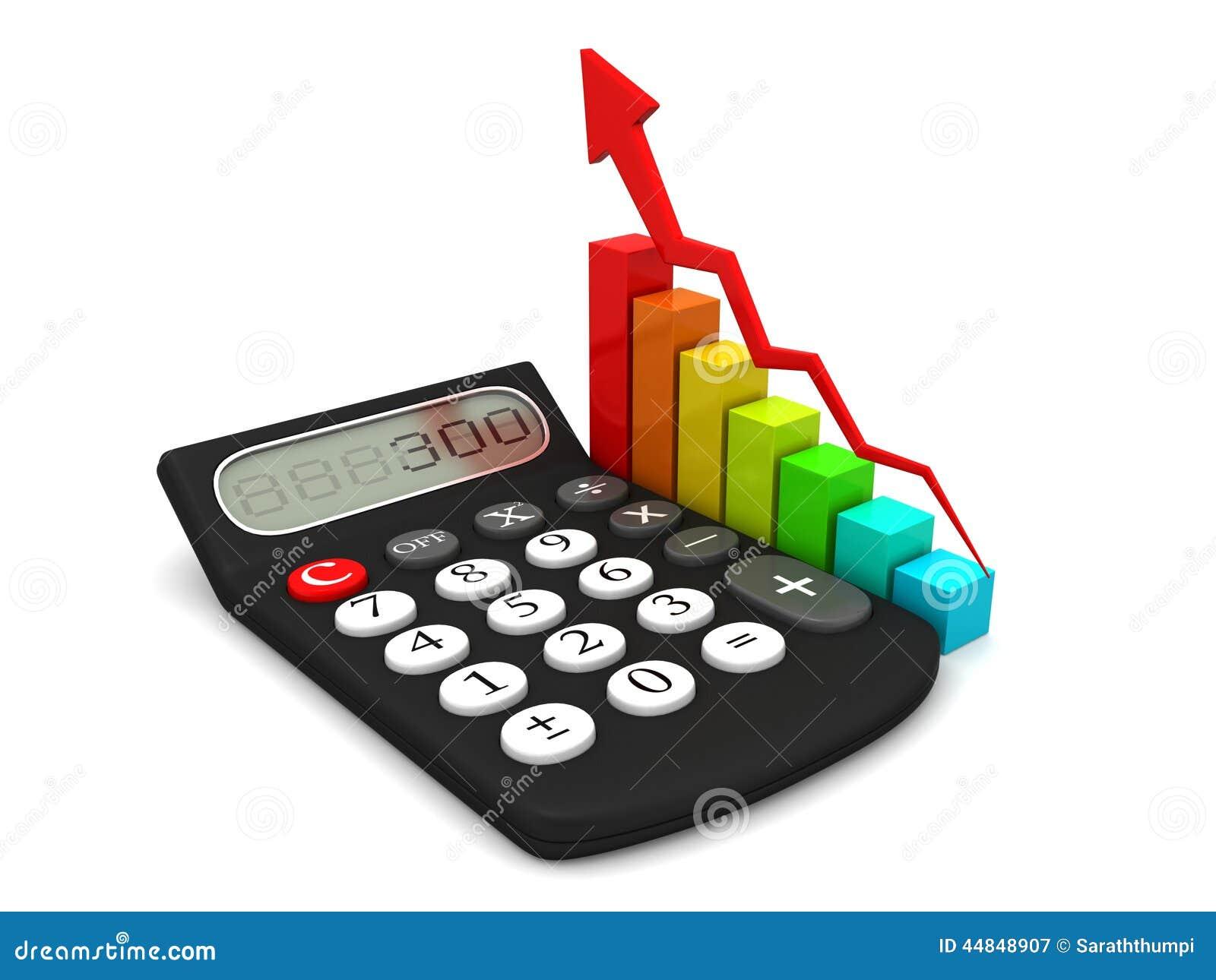 Калькулятор и красочная диаграмма дела икона 3d