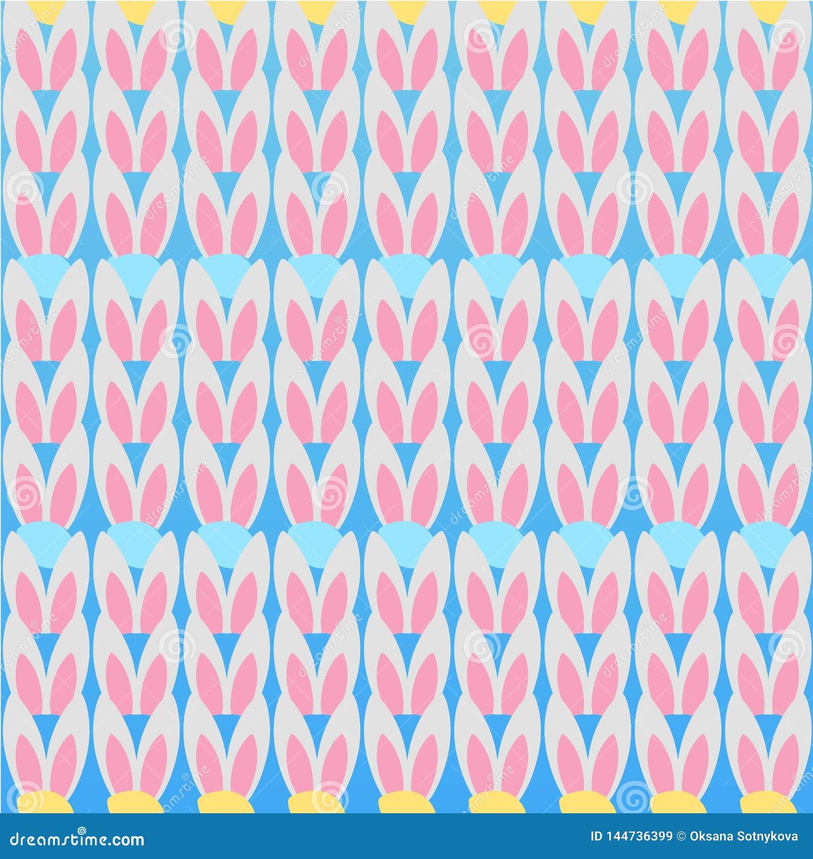 Квадратная предпосылка для пасхи Иллюстрация вектора с безшовной кар
