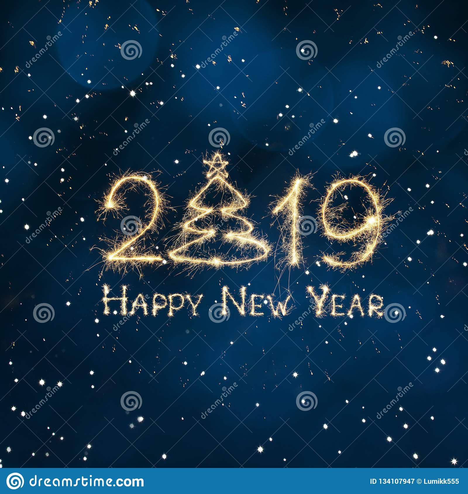 Квадратное знамя С Новым Годом! 2019 сети праздника