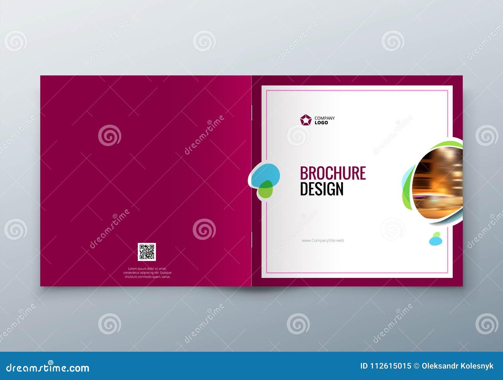 Квадратный дизайн брошюры Шаблон корпоративного бизнеса для брошюры прямоугольника, отчета, каталога, кассеты корпоративно