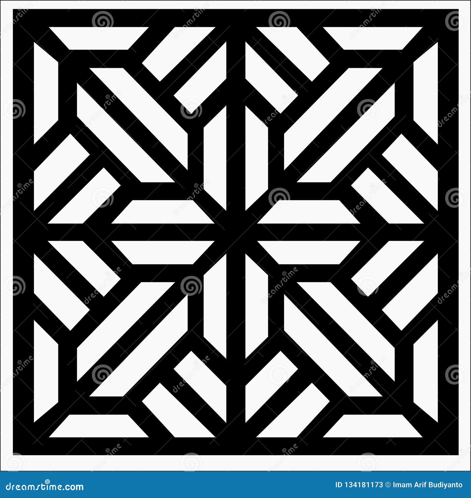 Квадратный орнамент