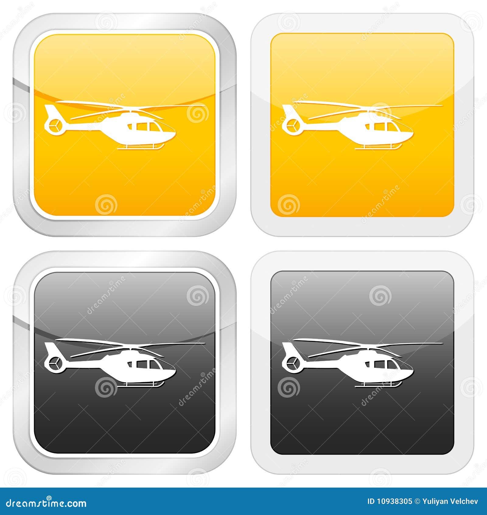квадрат иконы вертолета
