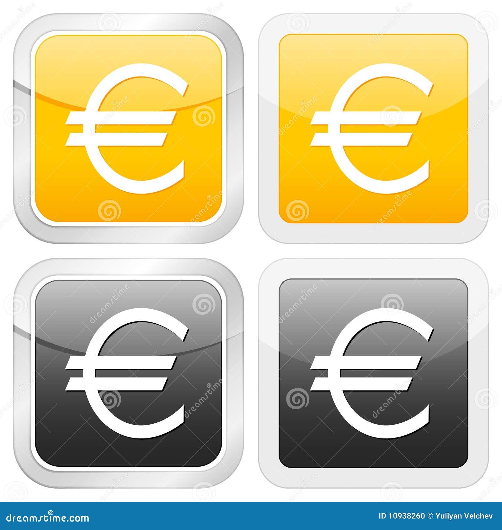 квадрат иконы евро