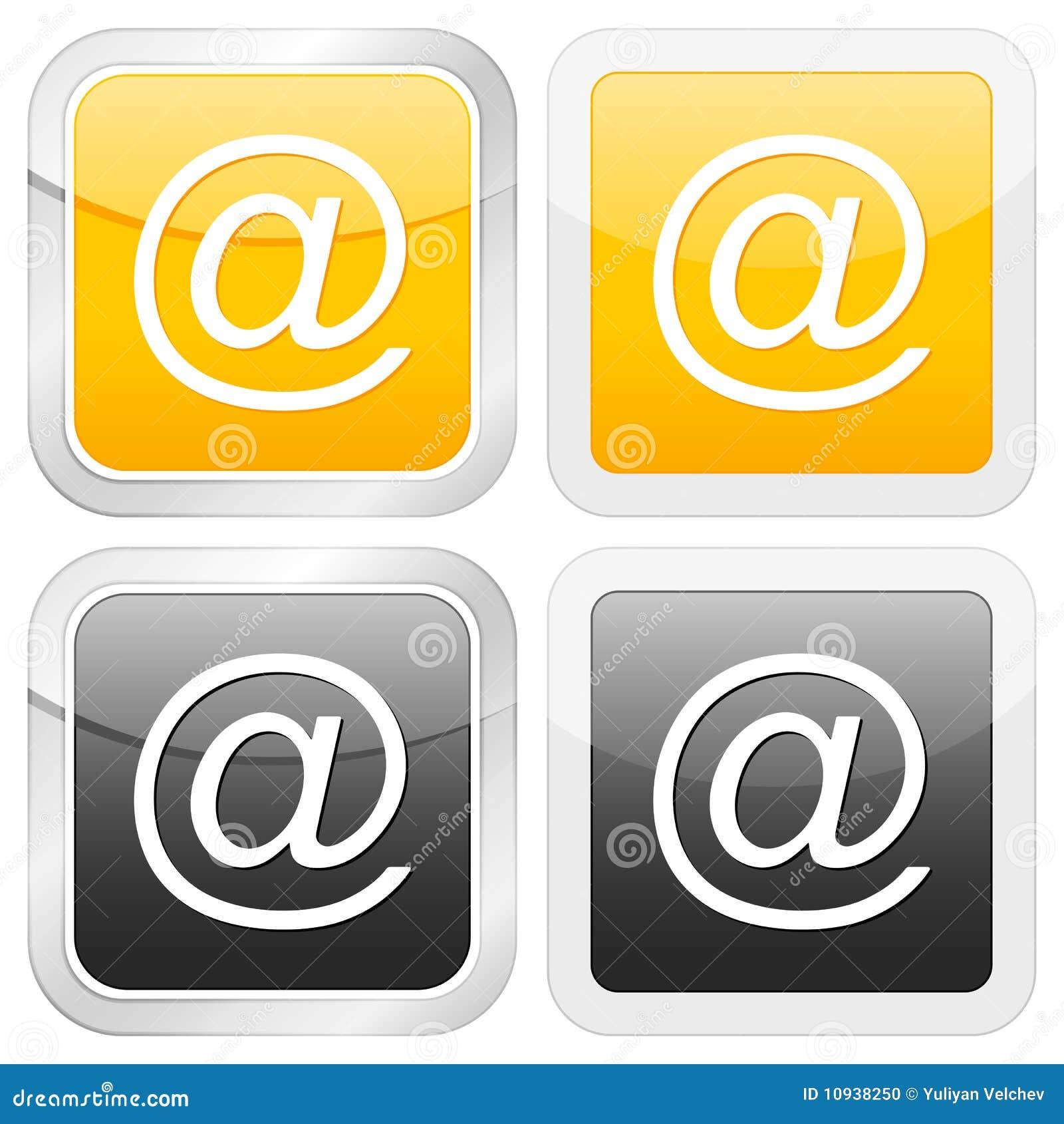 квадрат иконы электронной почты