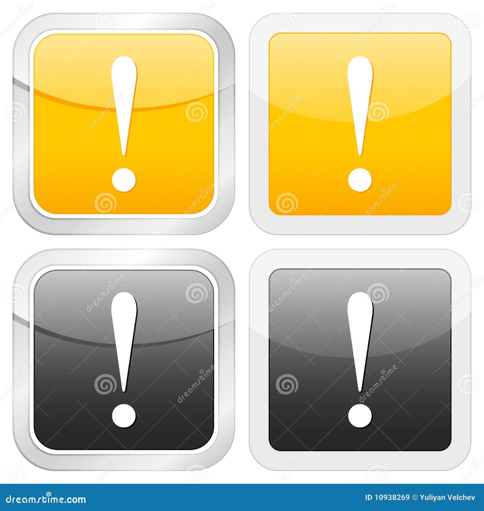 квадрат метки иконы возгласа