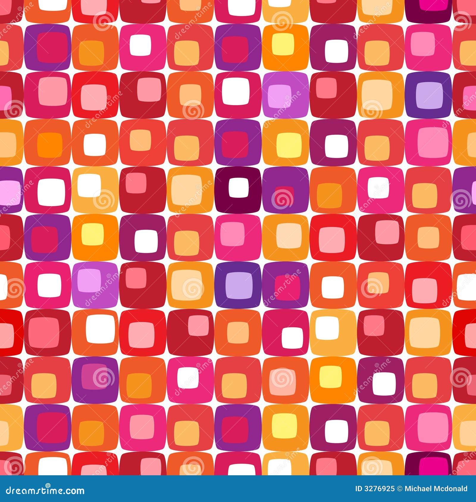 квадрат цветастой картины ретро
