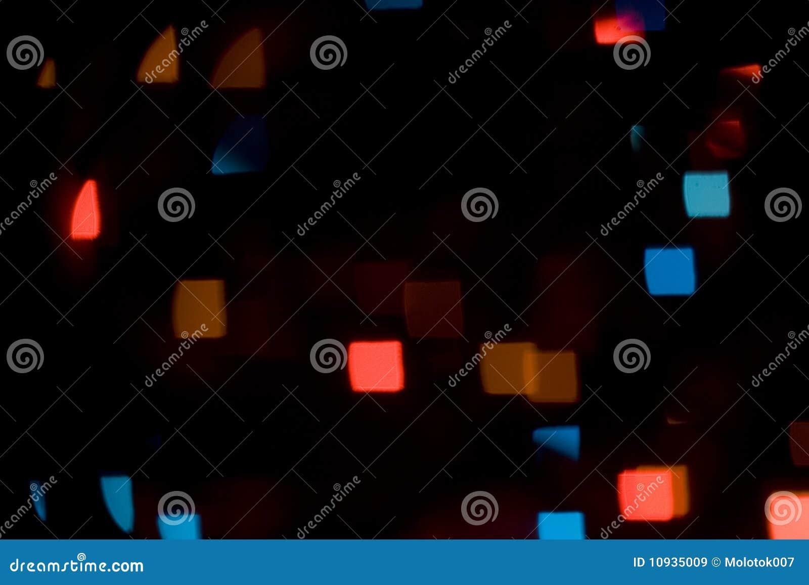 квадрат цветастых светов bokeh форменный