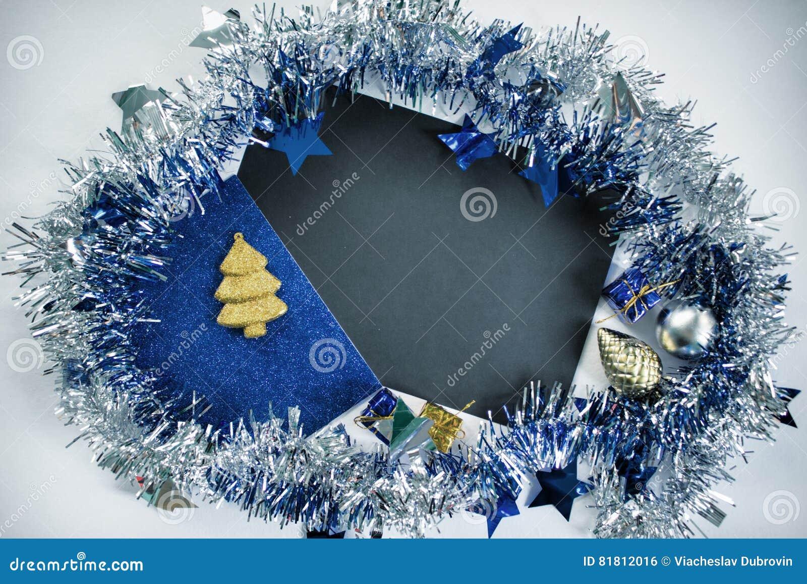 Квартира рождества кладет фото фона для рекламы или сообщения приветствию