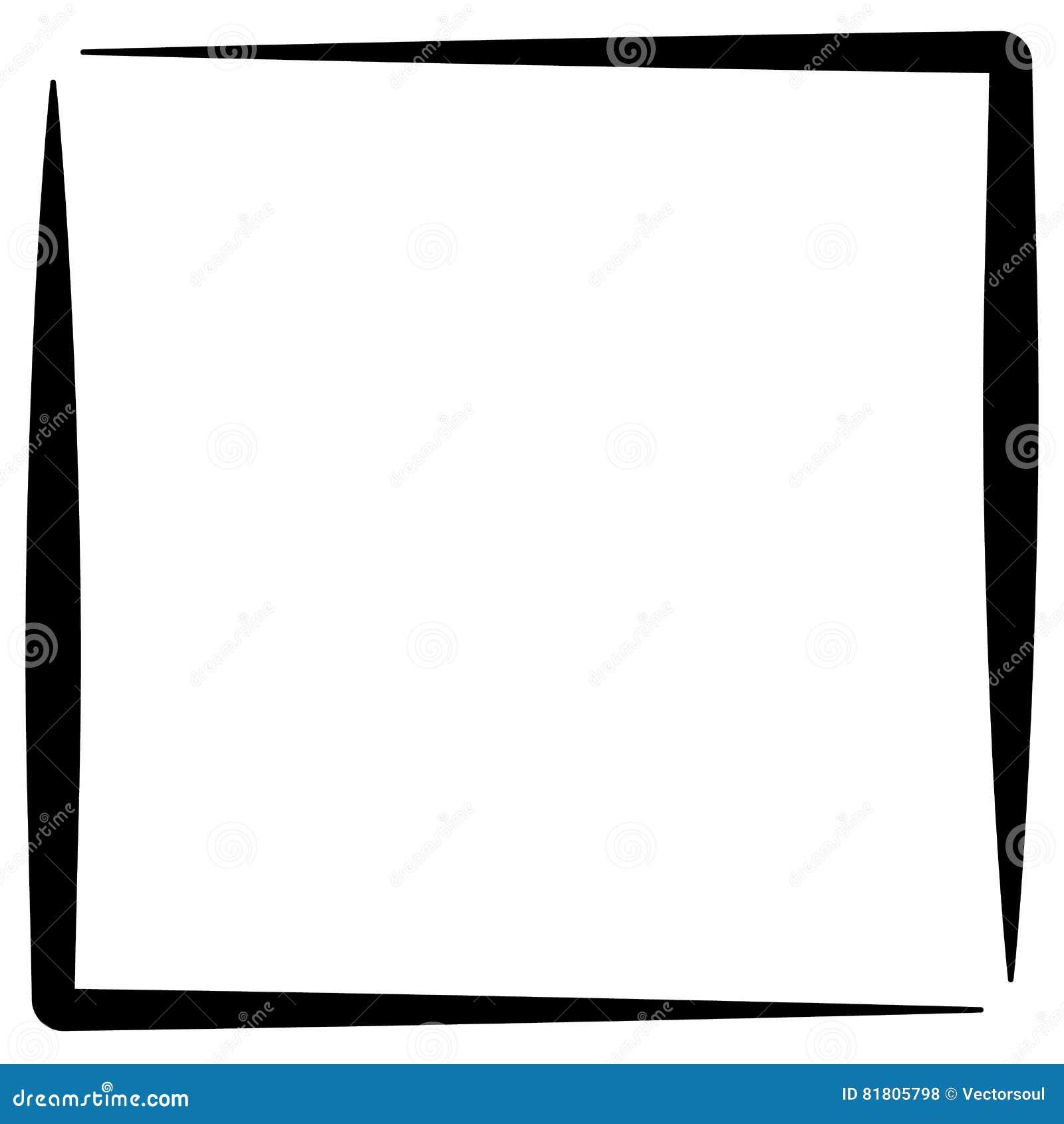 Квадратная рамка фото формата, граница фото