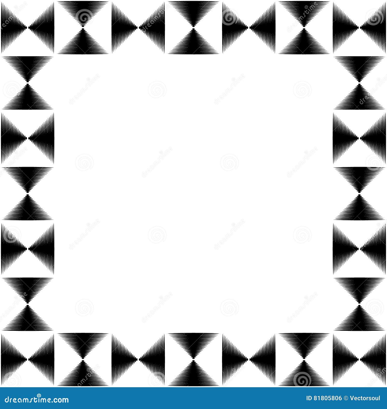 Квадратное фото формата, картинная рамка с мозаикой линий