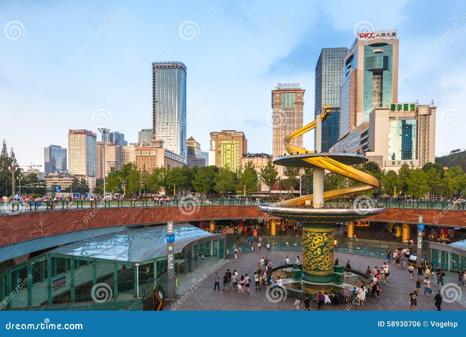 Квадрат Tianfu Чэнду, Китая