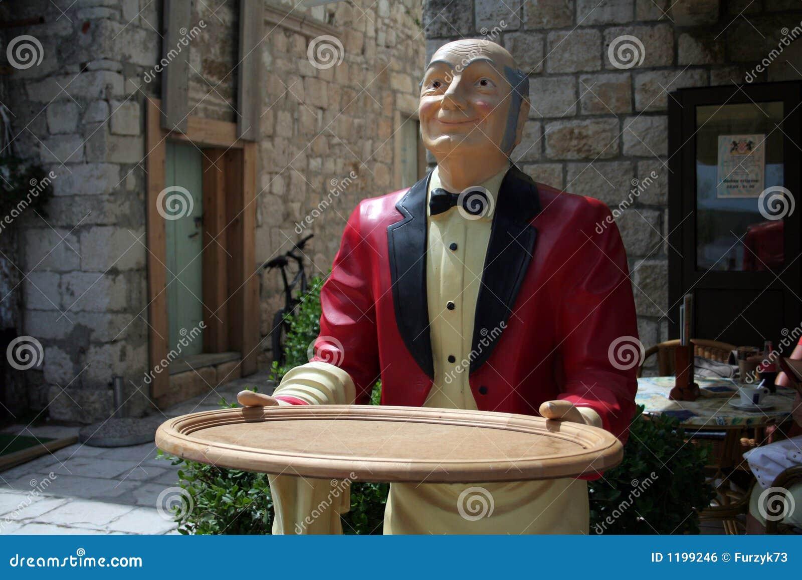 кельнер деревянный