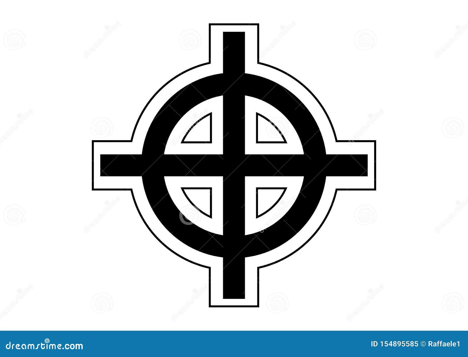 кельтский крест иллюстрация штока иллюстрации насчитывающей