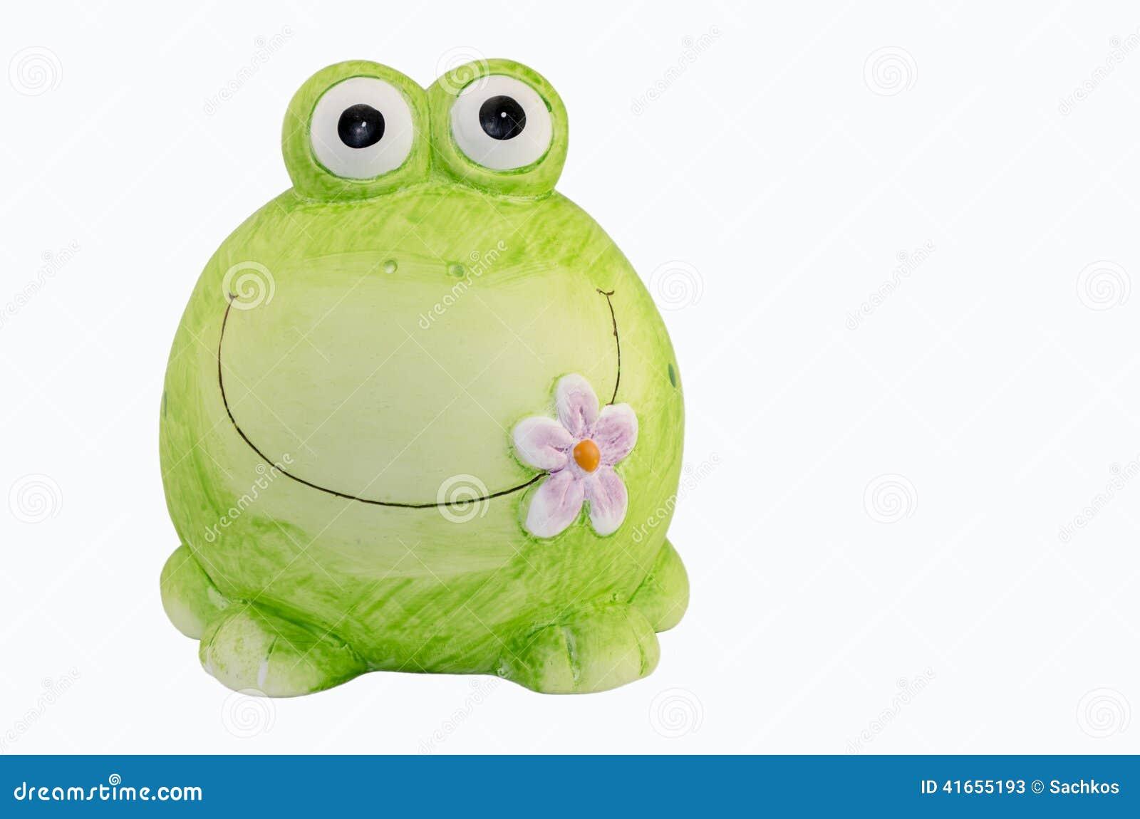керамическая лягушка